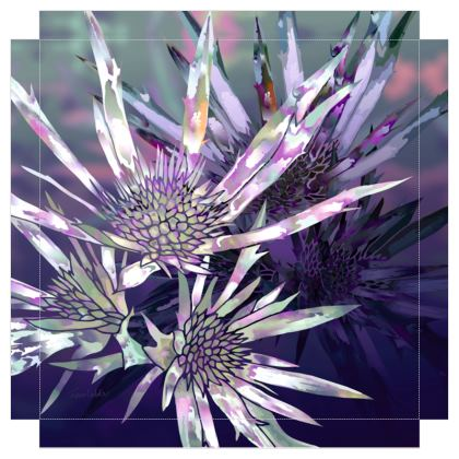 Purple Prickles Canvas Print. Size 40cm x 40cm
