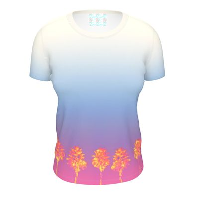 Palm Trees Collection Ladies Cut and Sew T Shirt