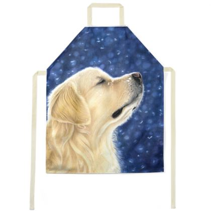 Golden Retriever Apron - Magic Moment