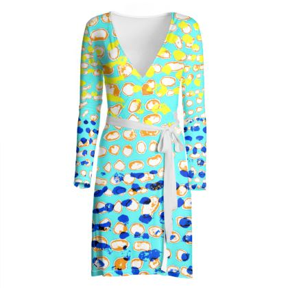 Textural Collection multicolored wrap dress