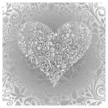 Love Heart Canvas Print. Size 70cm x 70cm