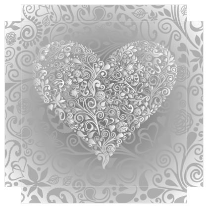 Love Heart Canvas Print. Size 30cm x 30cm