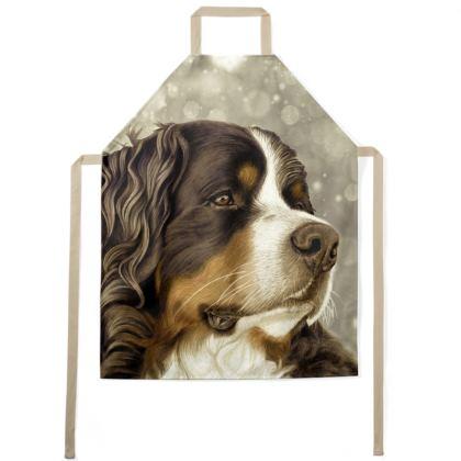 Bernese Mountain Dog Apron - Vintage Sepia Style