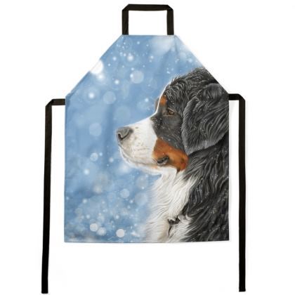 Bernese Mountain Dog Apron - Let It Snow
