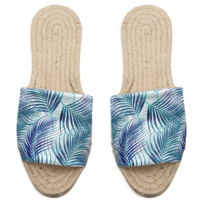 Tropical Garden in Blue Collection Sandal Espadrilles