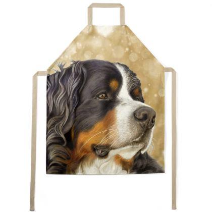 Bernese Mountain Dog Apron - Regal Old Gold