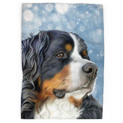 Bernese Mountain Dog Tea Towels - Regal Blue