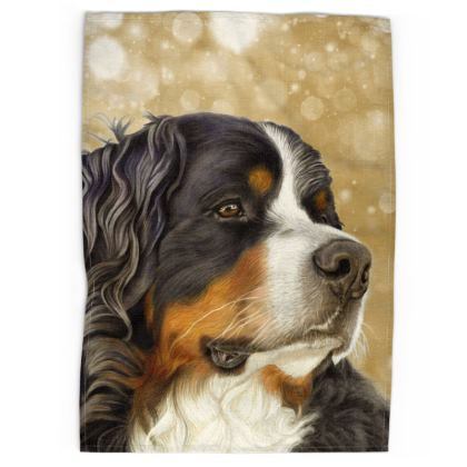 Bernese Mountain Dog Tea Towels - Regal Old Gold
