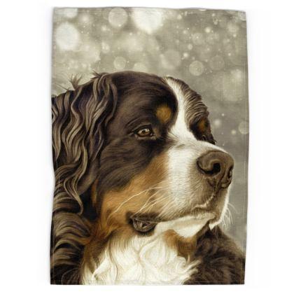 Bernese Mountain Dog Tea Towel - Regal Vintage