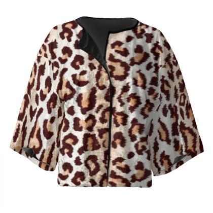Leopard Print Kimono Jacket