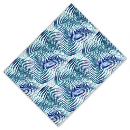 Tropical Garden in Blue Collection Towel