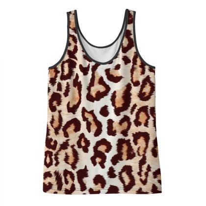 Leopard Print Ladies Vest Top