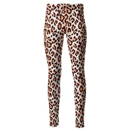Leopard Print High Waisted Leggings