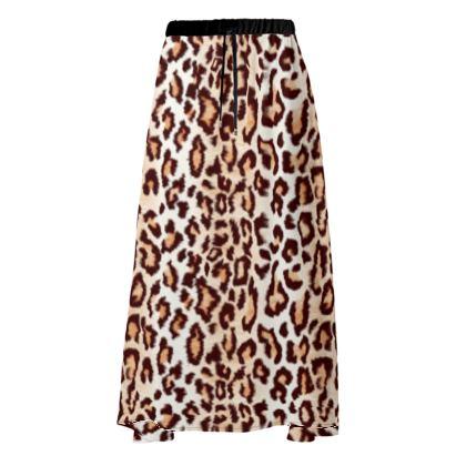 Leopard Print Skirt in Three Lengths