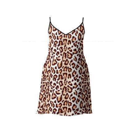 Leopard Print Long/Short Slip Dress