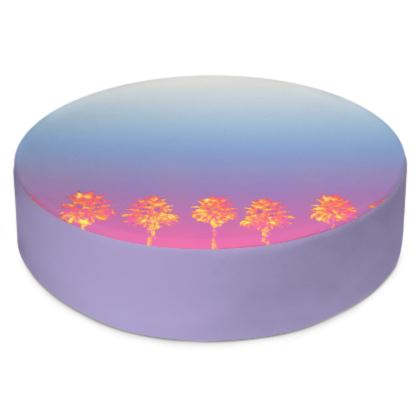 Palm Trees Collection Round Floor Cushion