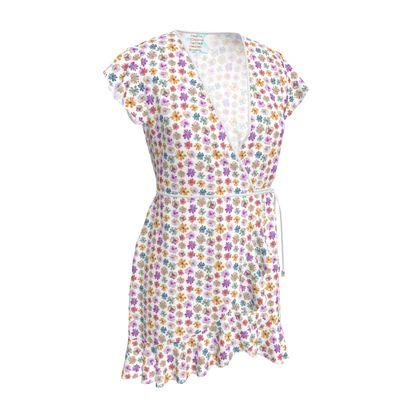 Rainbow Daisies Collection Tea Dress