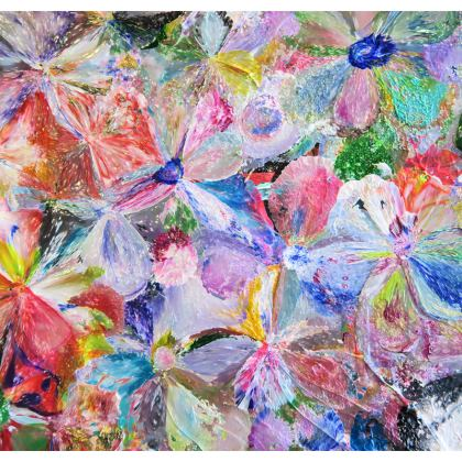 Double Deckchair Sling,  Summer Pop - Flowers in motion for 2 or just for you.