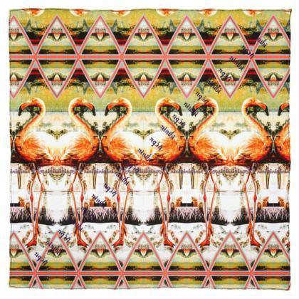 Silk Scarf #ninibing34 DESIGN Flamingo rosé #ninibing34