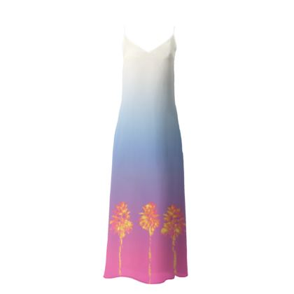 Palm Trees Collection Slip Dress