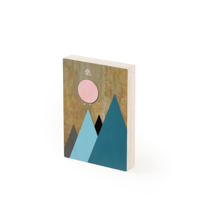 PEAKS BY NIGHT, Wood Prints