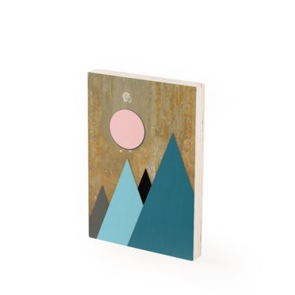 PEAKS AT NIGHT, Wood Prints