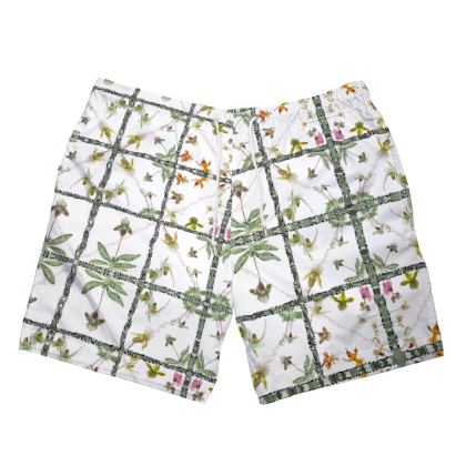 195,-  DESIGNER Badeshorts American style FLAMINGO size XL mit Kordelbandzug und Netzteil innen, glamouröse Verarbeitung