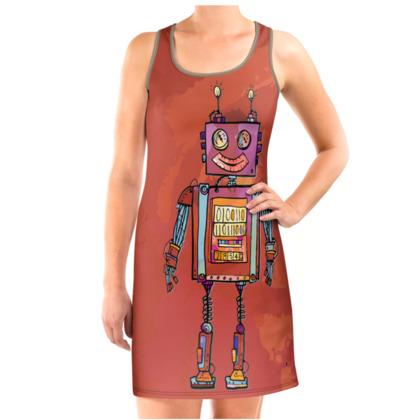 'Vintage Robot' Vest Dress