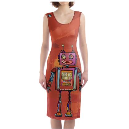 'Smiling Robot' Bodycon Dress
