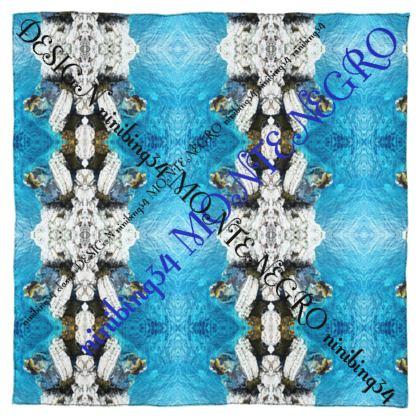MONTENEGRO  Silk Scarf #ninibing34 DESIGN 115 x 115 cm 100% SEIDE