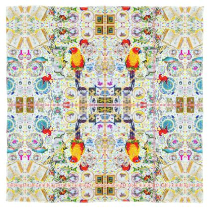 Silk 115 x 115 cm 100% SEIDE #ninibing34