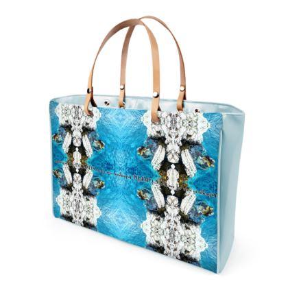 € 259,00 DESIGNER Shopper Bag diamonds are forever vinyl lack heaven blue