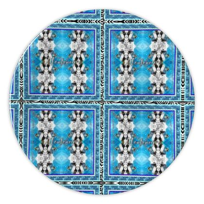 Teller Porzellan 20 cm DESIGNER ninibing34 Montenegro Theme Teller, China plate 20 cm