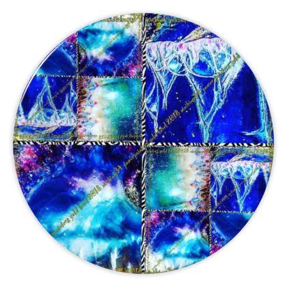 € 59,00 Teller Porzellan 20 cm DESIGNER ninibing34 Miami Medusa Blue Theme