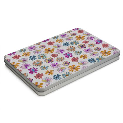 Rainbow Daisies Collection Pencil Case Box