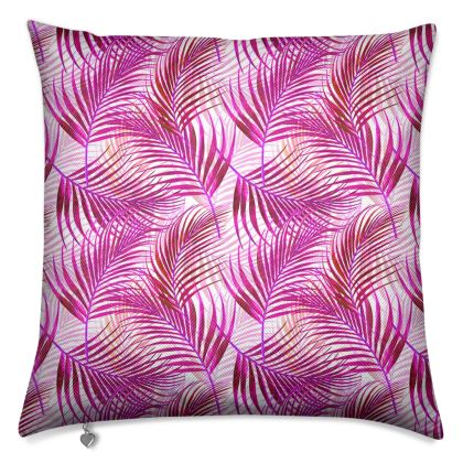 Tropical Garden Collection in Magenta Luxury Cushion