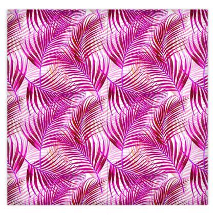 Tropical Garden Collection in Magenta Duvet Cover