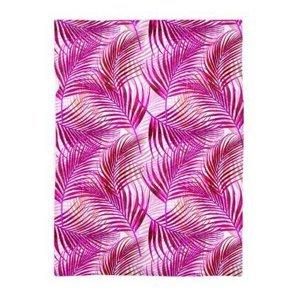 Tropical Garden Collection in Magenta Blanket