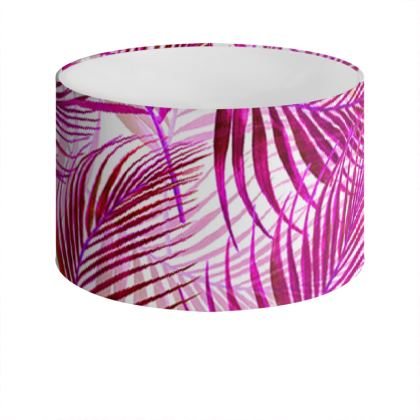 Tropical Garden Collection in Magenta Drum Lamp Shade