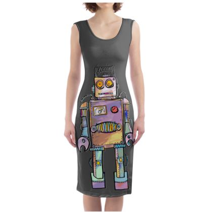 'Colin the Robot' Bodycon Dress