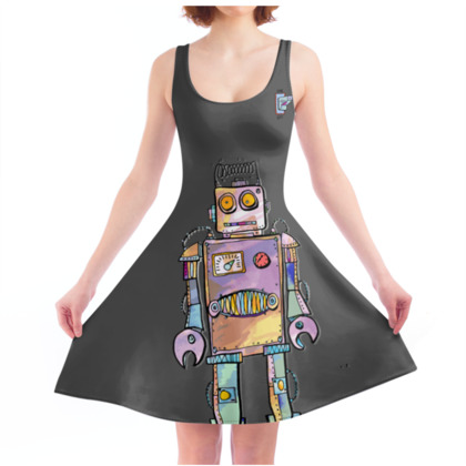 'Colin the Robot' Skater Dress