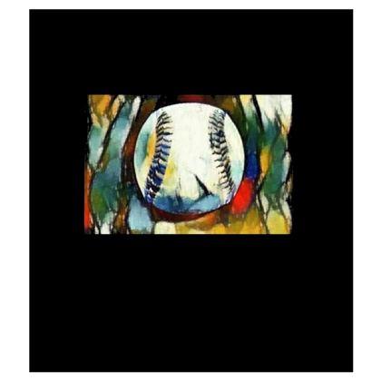 Sizes XS - 7XL Baseball Slim Fit Mens T-Shirt.  Copyright 2018 Joanne Shaw.