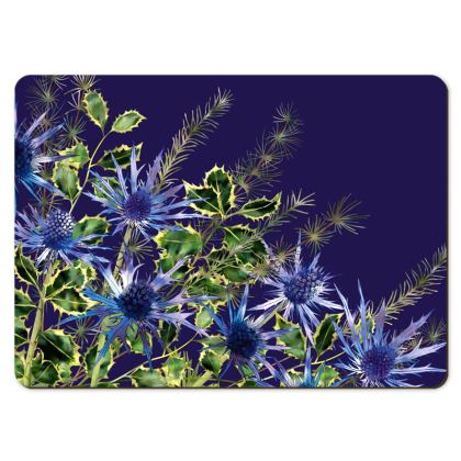 Large Placemats - Midnight Holly Bouquet