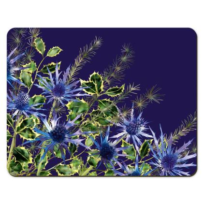Placemats - Midnight Holly Bouquet