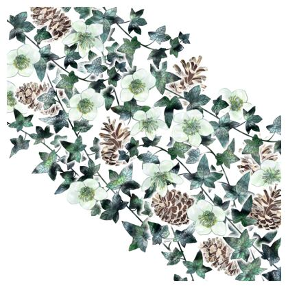 Christmas Rose Garland Coasters