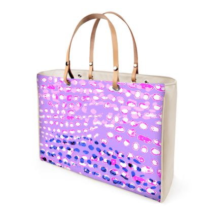 Textural Collection multicolored Handbag in mauve and blue