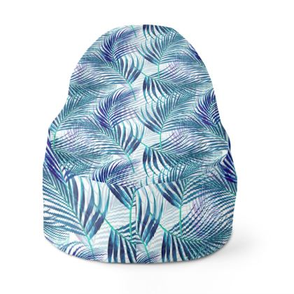 Tropical Garden in Blue Collection Bean Bag