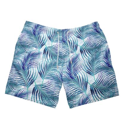 Tropical Garden in Blue Collection Mens Swimming Short