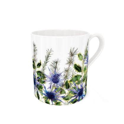 Bone China Mug - Holly Bouquet