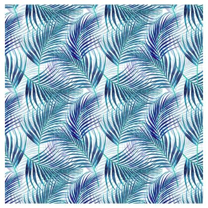 Tropical Garden in Blue Collection Drum Lamp Shade